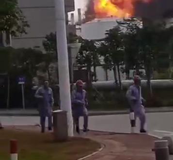 珠海化工厂发生爆炸现场视频 救援最新消息大火还未扑灭
